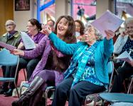 Photo of singing session for people living with dementia
