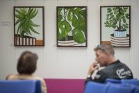 Photo or artwork in hospital