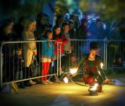 Photo of a street performance