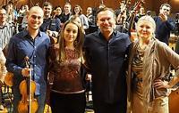Vick Bain pictured far right