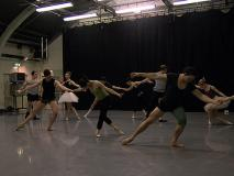 Photo of ballet rehearsal
