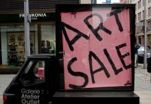 Photo of art sale
