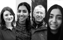 Lucy Latham (left), Tania Mahmoud (second from left), Dave Pritchard (second from right), Radha Sharma (right)