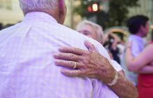 Photo of a couple dancing