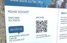 Photo of a sign advertising digital donations