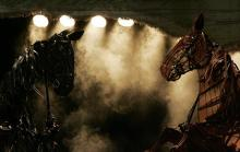 Photo of a production of War Horse