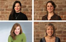 Photo of Helen Blakeman, top left; Amy Causley, top right; Caroline Roberts-Cherry, bottom left; and Karen Cody, bottom right.