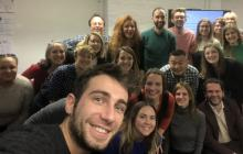 Photo of The Audience Agency's intern, Massimo Finistrella, and participants in the Connect pilot programme