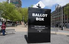 Photo of a huge ballot box