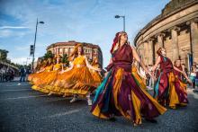 Street carnival scene