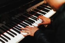 Musician playing piano