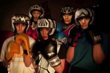 Photo of production - women wearing boxing gear