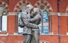 Photo of statue of two people embracing