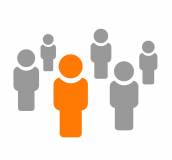 Graphic of people - one singled out