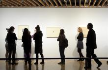 Photo of people in gallery