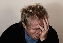 Photo of man in despair