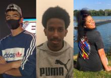 Photo of Zeyn Alsukhny, Ismael Dahir and Savannah Mullings Johnson