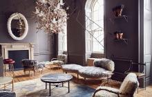 stylish lounge with classic upholstered furniture