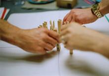 Image of workshops with pegs