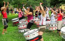 Photo of women drumming