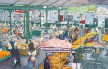 Painting of St George's market, Belfast