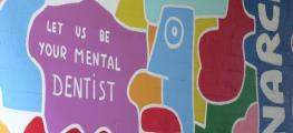 Cartoon image reading 'Let us be your mental dentist'