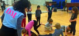 Photo of children in dance class with teacher