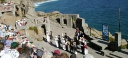 Photo of an open air theatre by the sea