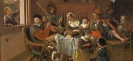 painting by Jan Steen from the Rijksmuseum in Amsterdam