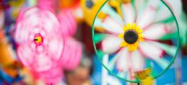 Photo of spinning wind toys