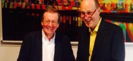 Photo of the Mayor of Bristol and Peter Bazalgette signing the memorandum