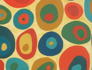 Painting of coloured ovals