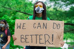We Can Do Better Protest Sign Cardboard