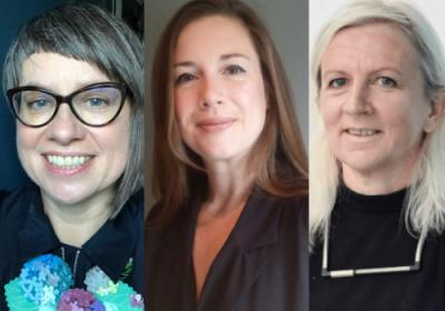 Images of Catharine Braithwaite, Helen Wewiora and Sarah Fisher