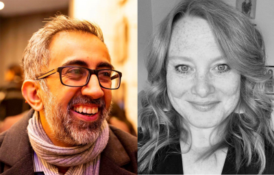 Anand Bhatt (left) who has joined DanceCity and Ruth Lee (right) who replaces him at Aakash Odedra Company