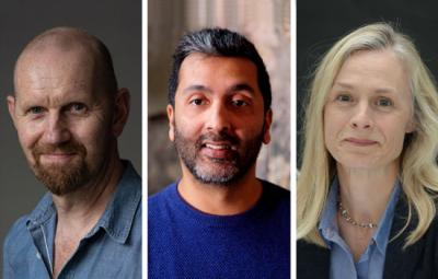 Photo of Sean Foley (left credit Hugo Glendinning), Amit Sharma (center credit Jon Craig photos), Rachael Thomas (right credit Robert Day).