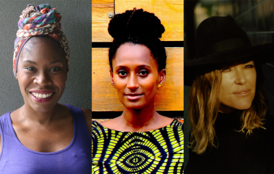 Simeilia Hodge-Dallaway (left), Hannah Azieb Pool (middle) and Cerys Matthews (right)
