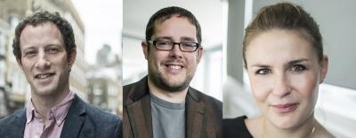 Photos of Michael Nabarro, Matt Scarisbrick and Libby Penn
