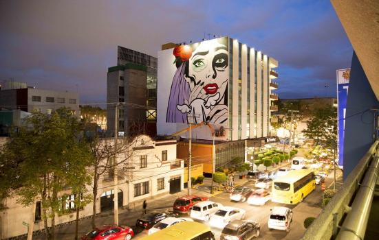 Photo of a mural of a woman
