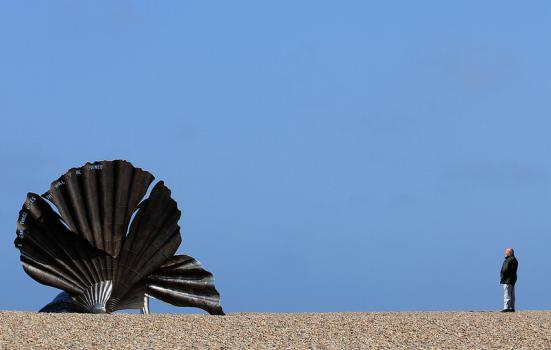 Photo of Scallop sculpture on Aldeburgh beach