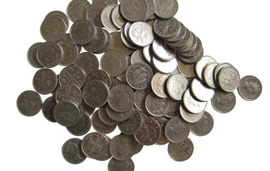 5p coins