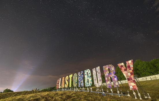 Photo of Glastonbury sign