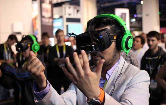 Photo of virtual reality headset