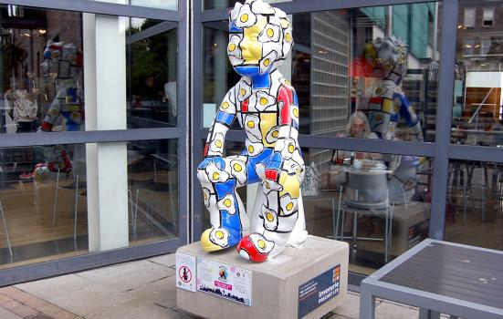 The scultpture 'Fried Eggs for Breakfast' at Dundee Contemporary Arts, which is a member of Future Arts Centres