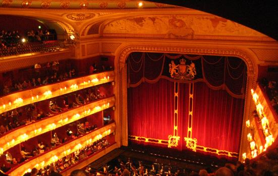 Royal Opera House view of the stage from a balcony seat