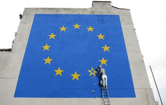 Photo of Banksy Brexit mural
