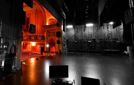 Photo of backstage