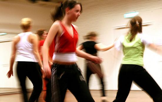 Photo of teenage girls dancing