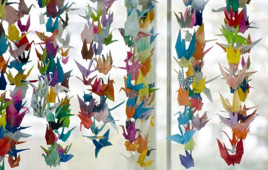 Photo of peace cranes