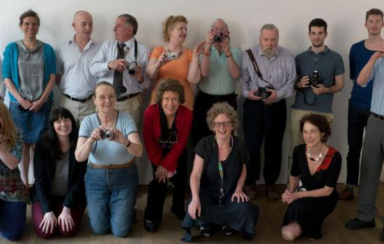 Photo of Arts 4 Dementia team at the Photographers' Gallery